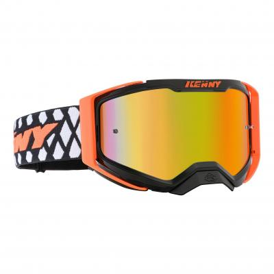 Masque cross Kenny Performance Level 2 noir/orange fluo
