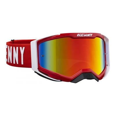 Masque cross Kenny Performance level 2 rouge/blanc écran iridium