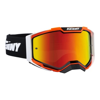 Masque cross Kenny Ventury phase 2 orange/noir écran iridium