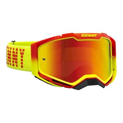 Masque cross Kenny Ventury phase 2 rouge/jaune écran iridium