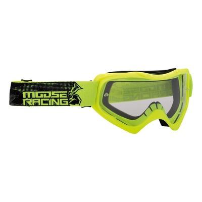 Masque cross Moose Racing Qualifier Agroid jaune fluo/noir – écran clair