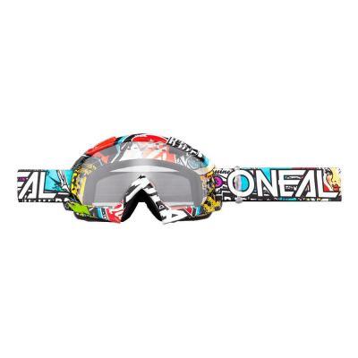 Masque cross O'Neal B10 Crank multicolor-écran clair