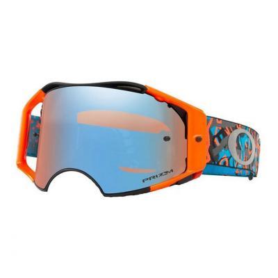 Masque cross Oakley Airbrake MX Camo Vine Night Orange/bleu écran Prizm™ MX Sapphire Iridium