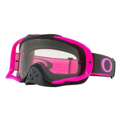 Masque cross Oakley Crowbar™MX Gunmetal rose écran transparent