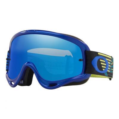 Masque cross Oakley O Frame MX Circuit blue/jaune écran iridium bleu