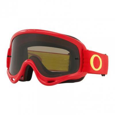 Masque cross Oakley O Frame MX rouge/jaune écran fumé foncé