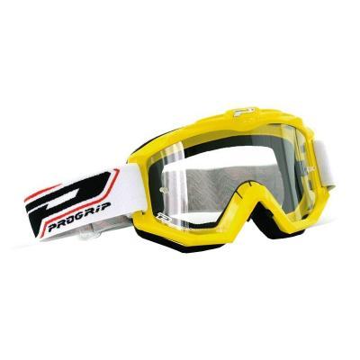 Masque cross Progrip Dual Race 3201 jaune