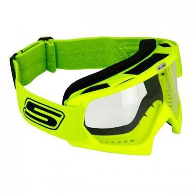 Masque cross S-Line Eco jaune fluo bandeau jaune fluo