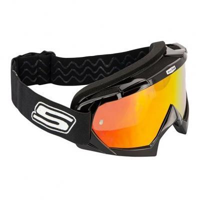 Masque cross S-Line Eco noir bandeau noir/blanc écran iridium orange+clair