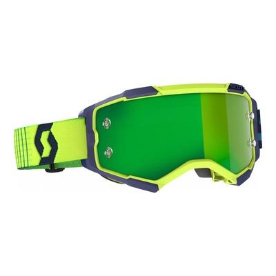 Masque cross Scott Fury bleu/jaune – écran Works chrome vert
