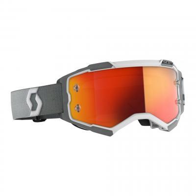 Masque cross Scott Fury gris- écran chrome orange
