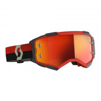 Masque cross Scott Fury noir/rouge- écran chrome orange