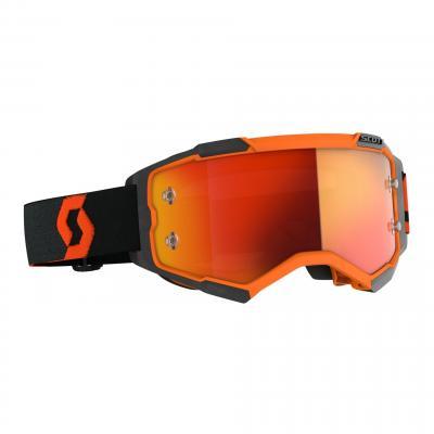 Masque cross Scott Fury orange/noir- écran chrome orange