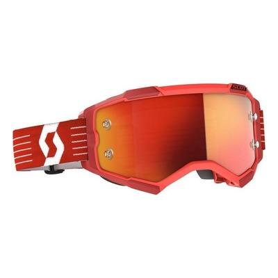 Masque cross Scott Fury rouge brillant – écran Works chrome orange