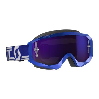 Masque cross Scott Hustle X MX bleu/blanc – écran chrome violet