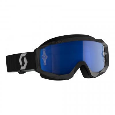 Masque cross Scott Hustle X MX noir/gris- écran chrome bleu