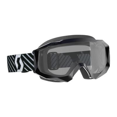 Masque cross Scott Hustle X MX Sand Dust noir/blanc – écran clair