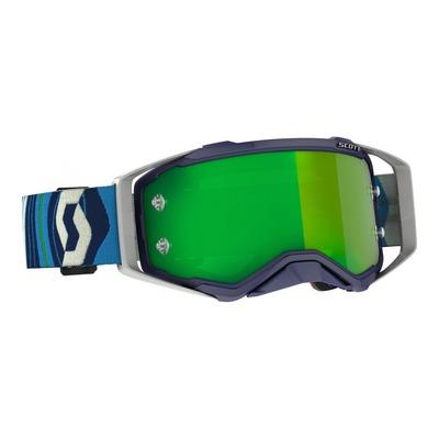 Masque cross Scott Prospect bleu/vert – écran Works chrome vert