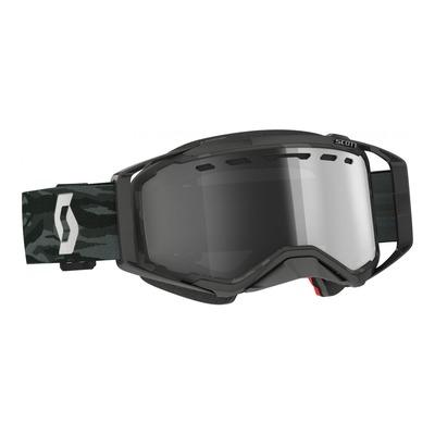 Masque cross Scott Prospect Enduro camo gris – écran Works Light Sensitive gris argent