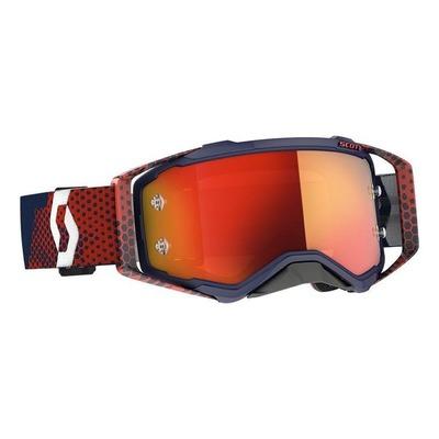 Masque cross Scott Prospect rouge/bleu – écran Works chrome orange