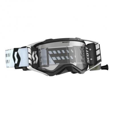 Masque cross Scott Prospect WFS Roll Off noir/blanc – écran clair