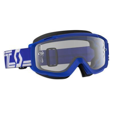 Masque cross Scott Split OTG bleu/blanc – écran clair