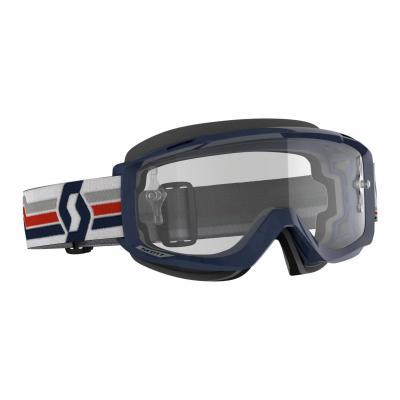 Masque cross Scott Split OTG bleu fonçé/blanc/rouge- écran transparent