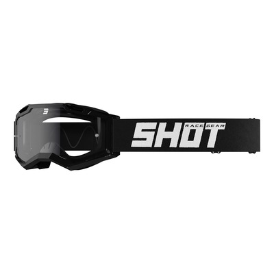Masque cross Shot Assault 2.0 Solid noir brillant- écran transparent
