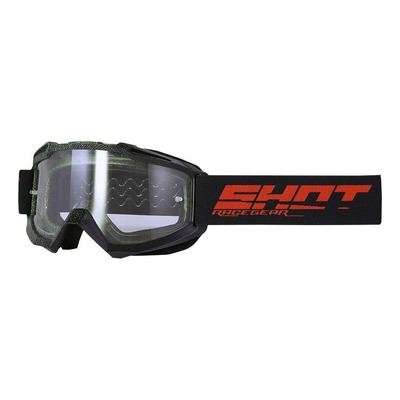 Masque cross Shot Assault Elite mat noir/kaki