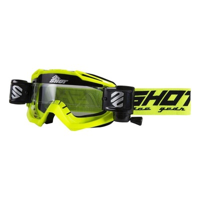 Masque cross Shot Assault Roll-off jaune fluo