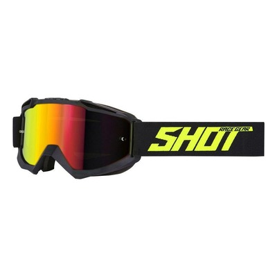 Masque cross Shot Iris Solid mat noir/jaune fluo