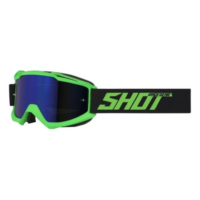 Masque cross Shot Iris Solid mat vert fluo