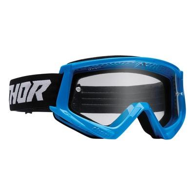 Masque cross Thor Combat bleu/noir- écran transparent