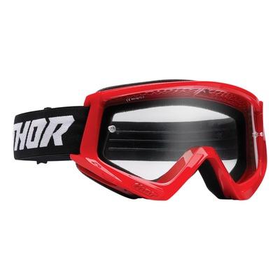 Masque cross Thor Combat rouge/noir- écran transparent