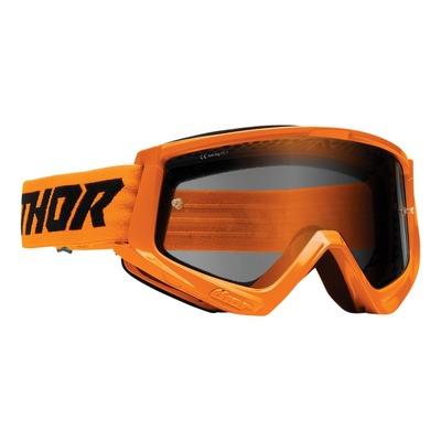 Masque cross Thor Combat Sand orange fluo- écran transparent