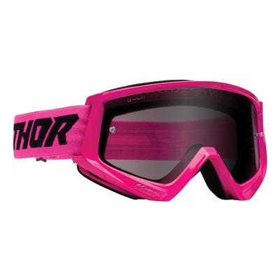 Masque cross Thor Combat Sand rose fluo- écran transparent