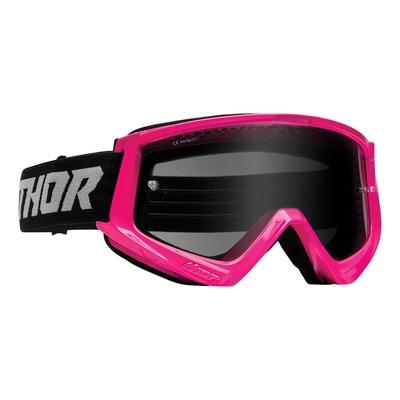 Masque cross Thor Combat Sand rose fluo/noir- écran transparent