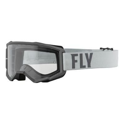 Masque enfant Fly Racing Focus gris- écran transparent