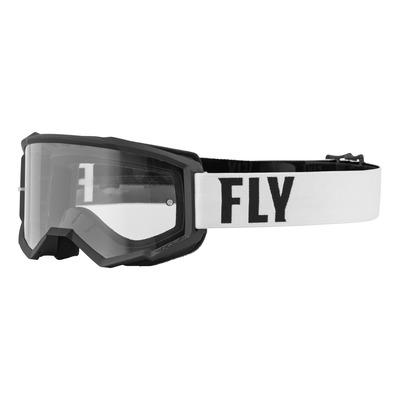 Masque Fly Racing Focus blanc/noir- écran transparent