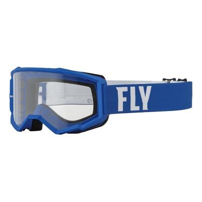 Masque Fly Racing Focus bleu/blanc- écran transparent