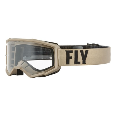 Masque Fly Racing Focus kaki/brun- écran transparent