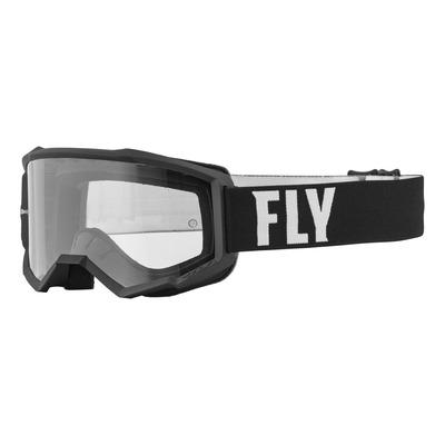 Masque Fly Racing Focus noir/blanc- écran transparent