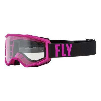 Masque Fly Racing Focus rose/noir- écran transparent