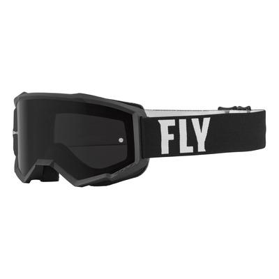Masque Fly Racing Focus Sand noir/blanc- écran fumé foncé