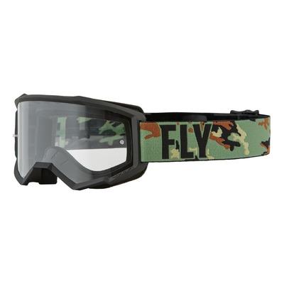 Masque Fly Racing Focus vert/camouflage/noir- écran transparent