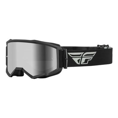 Masque Fly Racing Zone gris/noir- écran iridium argent/fumé