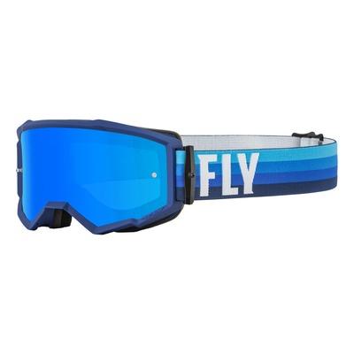 Masque Fly Racing Zone noir/bleu- écran iridium bleu/fumé
