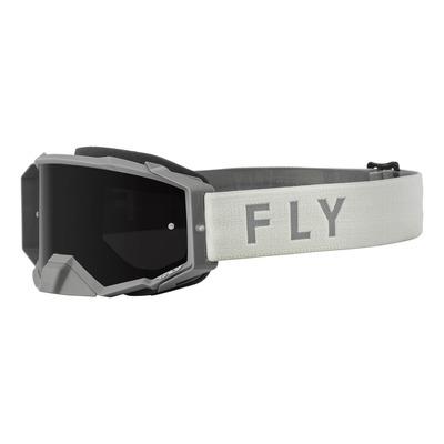 Masque Fly Racing Zone Pro gris- écran fumé foncé