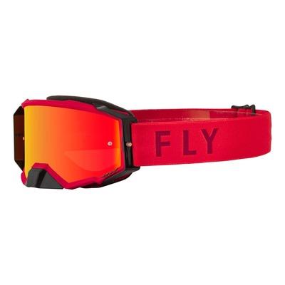 Masque Fly Racing Zone Pro rouge- écran iridium rouge/ambre