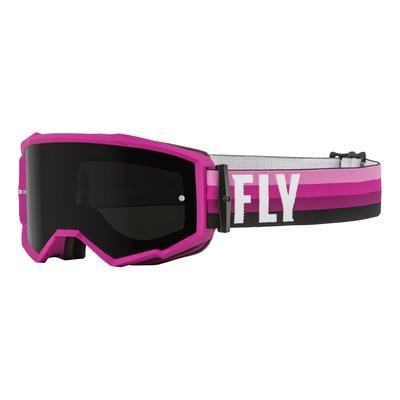 Masque Fly Racing Zone rose/noir- écran fumé foncé